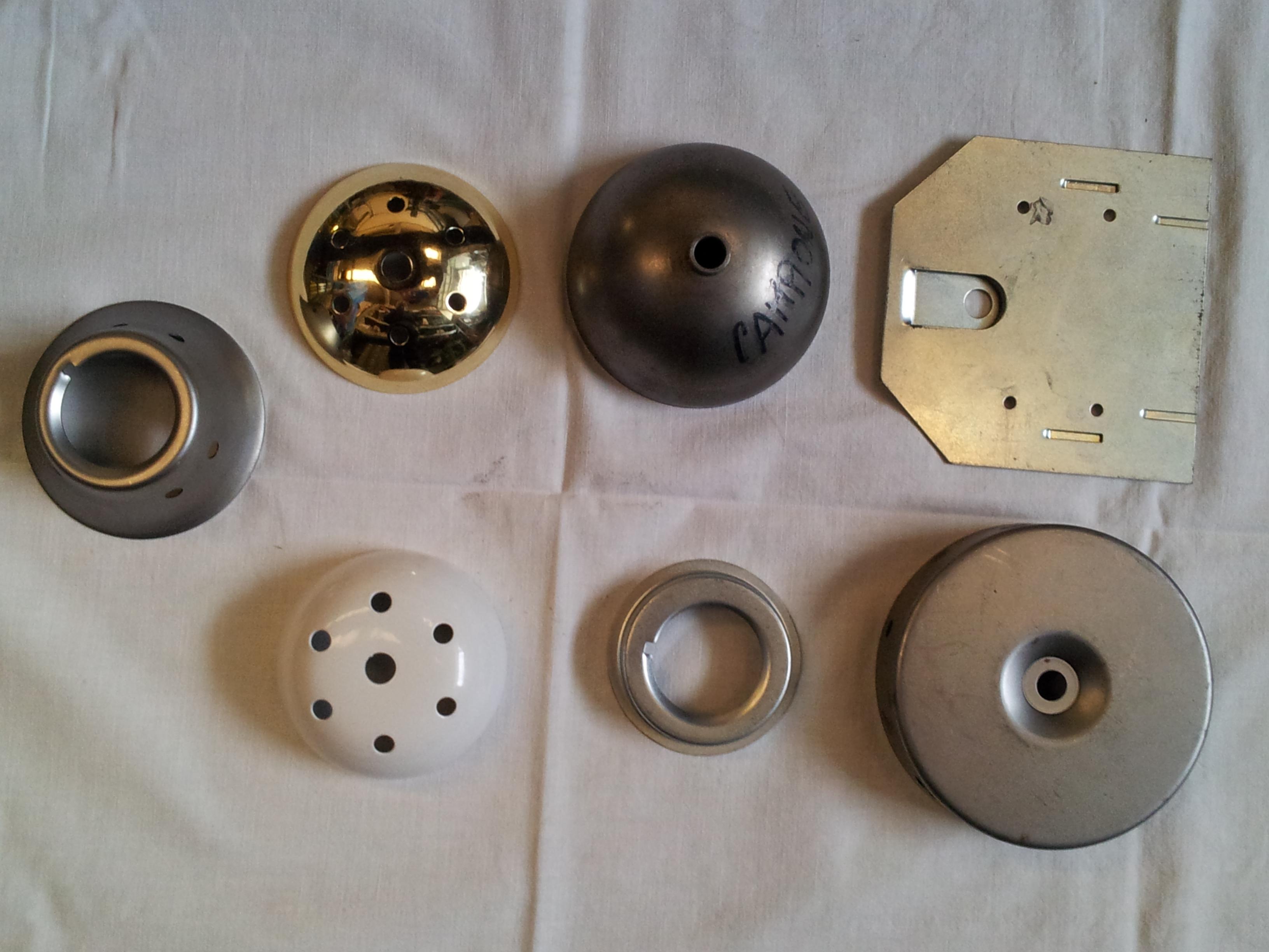 Componenti per lampadari, appliques e faretti